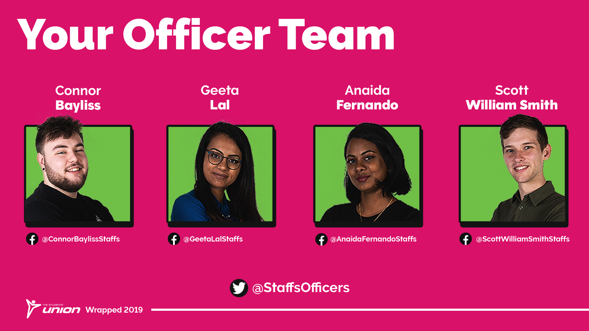 Your Officer Team. Connor Bayliss, Geeta Lal, Anaida Fernando and Scott William Smith.