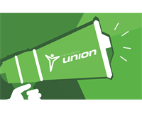 Megaphone with Union Logo