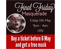 buy a ticket before 6 may and get a free mask